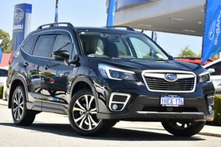 2020 Subaru Forester S5 MY21 2.5i Premium CVT AWD Crystal Black 7 Speed Constant Variable Wagon.