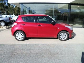 2011 Suzuki Swift FZ GA Red 5 Speed Manual Hatchback