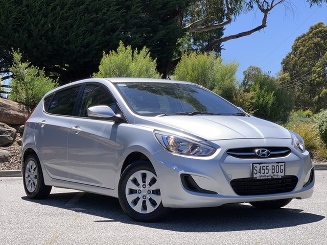 Used Hyundai Accent RB3 MY16 Active Totness, 2015 Hyundai Accent RB3 MY16 Active Silver 6 Speed Constant Variable Hatchback