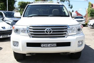 2013 Toyota Landcruiser VDJ200R MY13 Sahara Crystal Pearl 6 Speed Sports Automatic Wagon