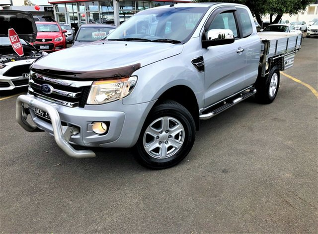 Used Ford Ranger PX XLT Super Cab Seaford, 2015 Ford Ranger PX XLT Super Cab Silver 6 Speed Sports Automatic Utility