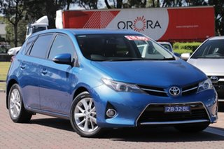 2014 Toyota Corolla ZRE182R Ascent Sport Tidal Blue 6 Speed Manual Hatchback.
