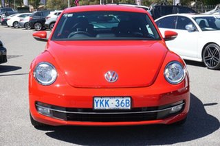 2014 Volkswagen Beetle 1L MY14 Coupe DSG Red 7 Speed Sports Automatic Dual Clutch Liftback