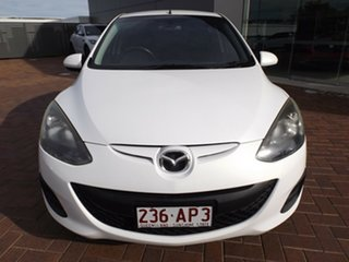 2012 Mazda 2 DE10Y2 MY12 Neo Crystal White Pearl 5 Speed Manual Hatchback