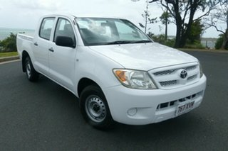 2008 Toyota Hilux TGN16R MY08 Workmate 4x2 White 5 Speed Manual Utility.