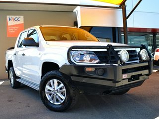 2016 Volkswagen Amarok 2H MY17 TDI420 4MOTION Perm Core White 8 Speed Automatic Utility.