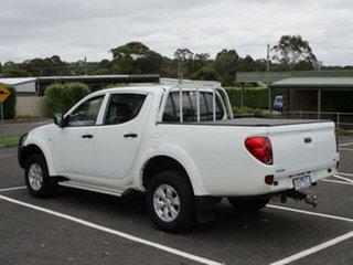 2014 Mitsubishi Triton MN Turbo GLX White Manual Dual Cab Utility