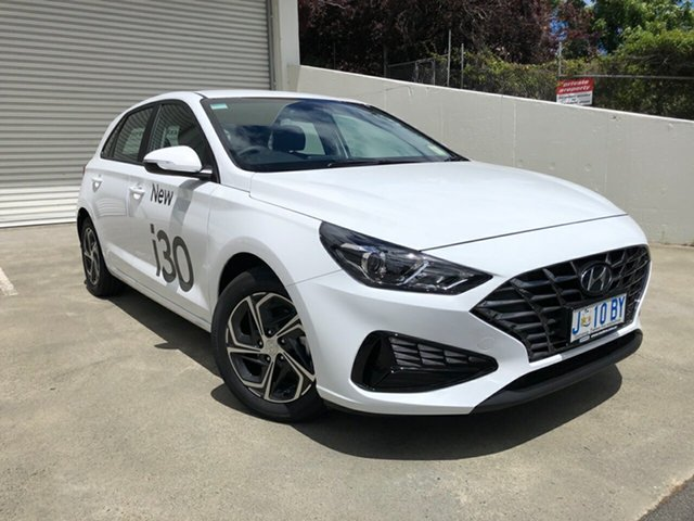 Demo Hyundai i30 PD.V4 MY21 Hobart, 2020 Hyundai i30 PD.V4 MY21 Polar White 6 Speed Sports Automatic Hatchback