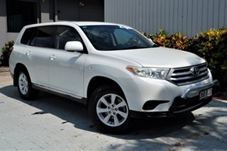 2013 Toyota Kluger GSU45R MY12 KX-R AWD White 5 Speed Sports Automatic Wagon.