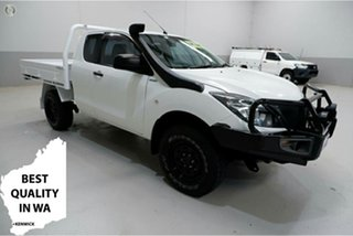 2016 Mazda BT-50 UR0YF1 XT Freestyle White 6 Speed Manual Cab Chassis.