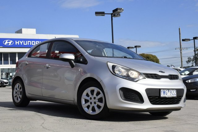 Used Kia Rio UB MY12 S Ferntree Gully, 2012 Kia Rio UB MY12 S Silver 6 Speed Manual Hatchback