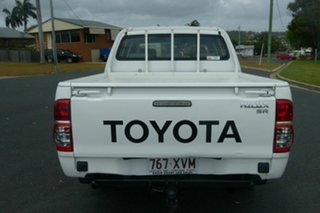2008 Toyota Hilux TGN16R MY08 Workmate 4x2 White 5 Speed Manual Utility