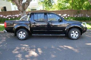 2010 Nissan Navara D40 ST-X Black 5 Speed Automatic Utility