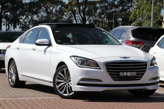2015 Hyundai Genesis DH White 8 Speed Sports Automatic Sedan.
