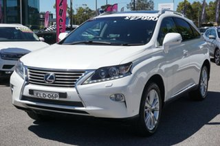2013 Lexus RX GGL15R MY12 RX350 Luxury White 6 Speed Sports Automatic Wagon.