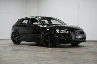 2014 Audi S3 8V MY14 Sportback S Tronic Quattro Black 6 Speed Sports Automatic Dual Clutch Hatchback.