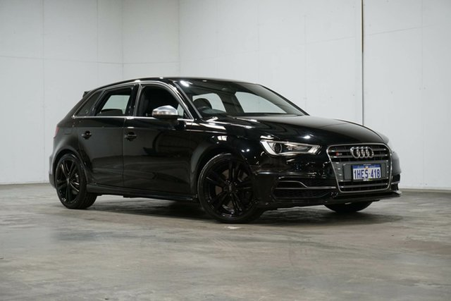Used Audi S3 8V MY14 Sportback S Tronic Quattro Welshpool, 2014 Audi S3 8V MY14 Sportback S Tronic Quattro Black 6 Speed Sports Automatic Dual Clutch Hatchback