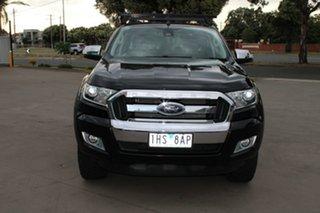 2016 Ford Ranger PX MkII XLT 3.2 (4x4) Black 6 Speed Manual Dual Cab Utility.