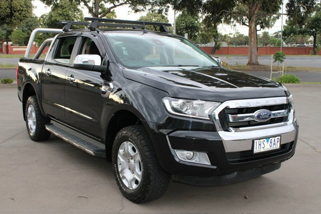 Used Ford Ranger PX MkII XLT 3.2 (4x4) West Footscray, 2016 Ford Ranger PX MkII XLT 3.2 (4x4) Black 6 Speed Manual Dual Cab Utility
