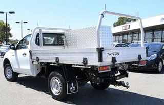 2017 Mitsubishi Triton MQ MY17 GLX 4x2 White 6 Speed Manual Cab Chassis.