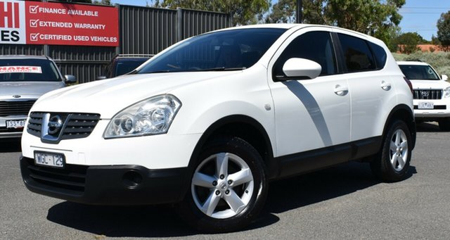 Used Nissan Dualis J10 ST X-tronic AWD Wantirna South, 2008 Nissan Dualis J10 ST X-tronic AWD White 6 Speed Constant Variable Hatchback