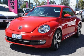 2014 Volkswagen Beetle 1L MY14 Coupe DSG Red 7 Speed Sports Automatic Dual Clutch Liftback.