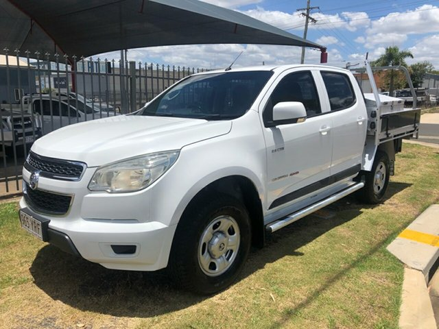 Used Holden Colorado RG LX (4x4) Toowoomba, 2012 Holden Colorado RG LX (4x4) White 6 Speed Automatic Crew Cab Chassis
