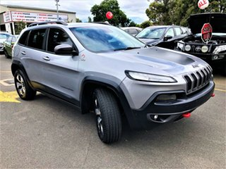 2015 Jeep Cherokee KL MY15 Trailhawk Silver 9 Speed Sports Automatic Wagon.