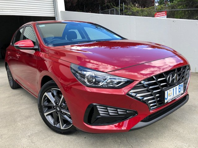 Demo Hyundai i30 PD.V4 MY21 Elite Hobart, 2020 Hyundai i30 PD.V4 MY21 Elite Fiery Red 6 Speed Sports Automatic Hatchback