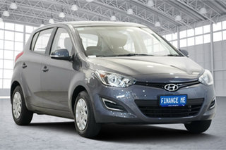 2015 Hyundai i20 PB MY16 Active Grey 4 Speed Automatic Hatchback.