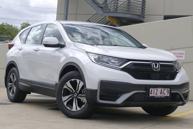 Demo Honda CR-V RW MY21 VTi FWD 7 Mount Gravatt, 2020 Honda CR-V RW MY21 VTi FWD 7 Platinum White 1 Speed Constant Variable Wagon