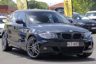 2010 BMW 1 Series E87 MY11 118d Steptronic Black 6 Speed Sports Automatic Hatchback.