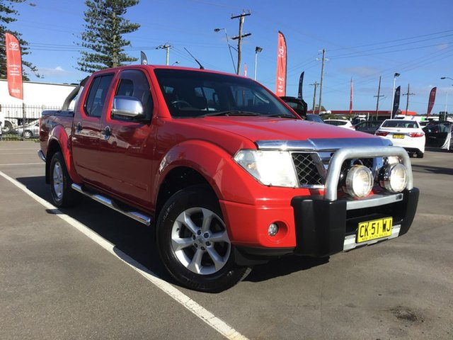 Used Nissan Navara D40 ST-X Cardiff, 2008 Nissan Navara D40 ST-X Red 6 Speed Manual Utility