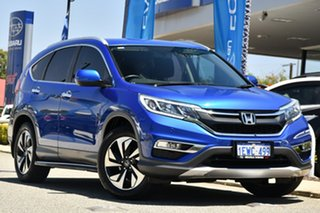 2015 Honda CR-V RM Series II MY17 VTi-S Blue 5 Speed Sports Automatic Wagon.