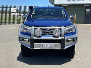 2015 Toyota Hilux GUN126R SR5 Double Cab Blue 6 Speed Sports Automatic Utility.