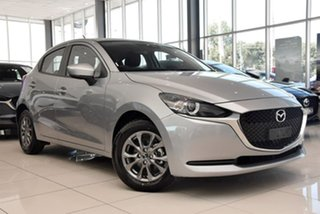 2020 Mazda 2 DJ2HA6 G15 SKYACTIV-MT Pure Silver 6 Speed Manual Hatchback.