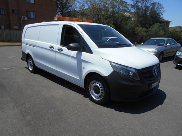 Used Mercedes-Benz Vito 447 116 BlueTEC LWB Bankstown, 2016 Mercedes-Benz Vito 447 116 BlueTEC LWB White 7 Speed Automatic Van
