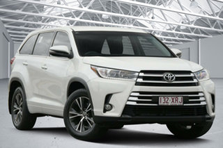 2017 Toyota Kluger GSU55R GX (4x4) White 6 Speed Automatic Wagon.