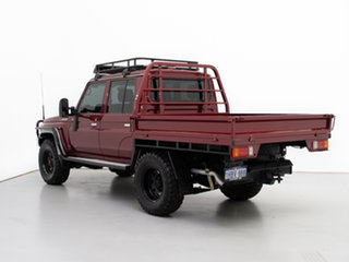 2015 Toyota Landcruiser VDJ79R MY12 Update GXL (4x4) Red 5 Speed Manual Double Cab Chassis