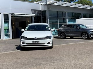 2020 Volkswagen Polo AW MY21 85TSI Comfortline White 6 Speed Manual Hatchback.