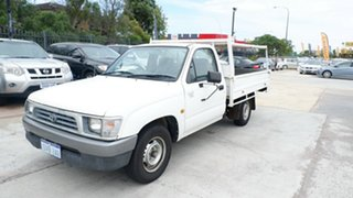 2001 Toyota Hilux RZN147R Workmate 4x2 White 5 Speed Manual Utility.