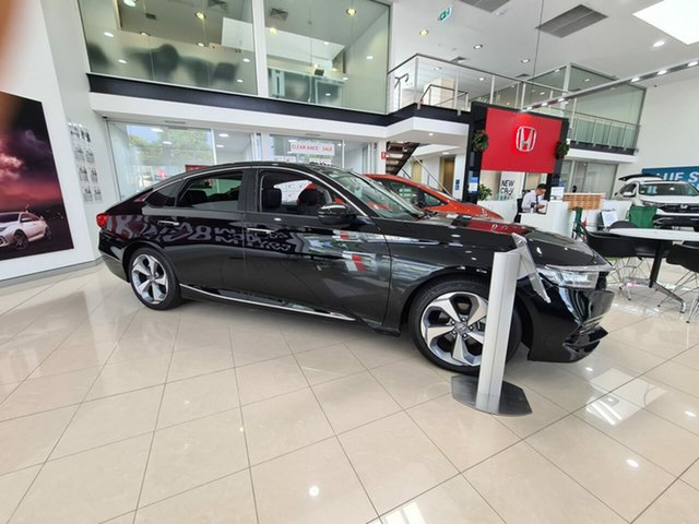 Demo Honda Accord 10th Gen MY19 VTi-LX Artarmon, 2019 Honda Accord 10th Gen MY19 VTi-LX Crystal Black 1 Speed Constant Variable Sedan