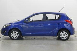 2014 Hyundai i20 PB MY15 Active Pristine Blue 6 Speed Manual Hatchback.