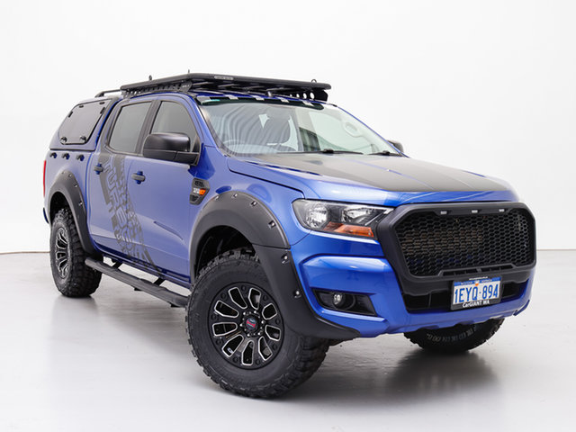Used Ford Ranger PX MkII XLS 3.2 (4x4), 2015 Ford Ranger PX MkII XLS 3.2 (4x4) Blue 6 Speed Manual Double Cab Pick Up