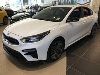 2020 Kia Cerato BD MY21 GT DCT Snow White Pearl 7 Speed Sports Automatic Dual Clutch Sedan.