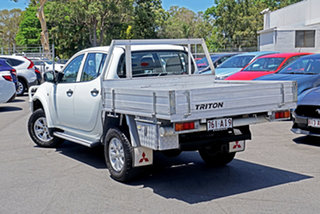 2011 Mitsubishi Triton MN MY11 GL-R Double Cab White 5 Speed Manual Utility.