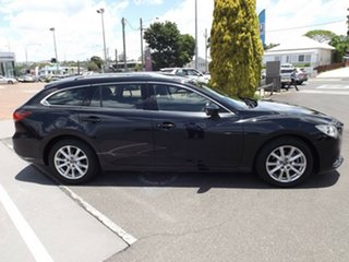 2014 Mazda 6 GJ1031 MY14 Sport SKYACTIV-Drive Black 6 Speed Sports Automatic Wagon.