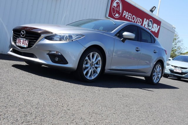 Used Mazda 3 BM5238 SP25 SKYACTIV-Drive Bundaberg, 2015 Mazda 3 BM5238 SP25 SKYACTIV-Drive Silver 6 Speed Sports Automatic Sedan