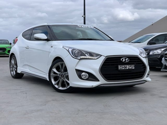Used Hyundai Veloster FS4 Series II SR Coupe Turbo Liverpool, 2016 Hyundai Veloster FS4 Series II SR Coupe Turbo White 6 Speed Manual Hatchback