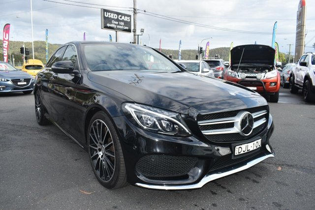 Used Mercedes-Benz C-Class W205 807MY C250 7G-Tronic + Gosford, 2016 Mercedes-Benz C-Class W205 807MY C250 7G-Tronic + Black 7 Speed Sports Automatic Sedan